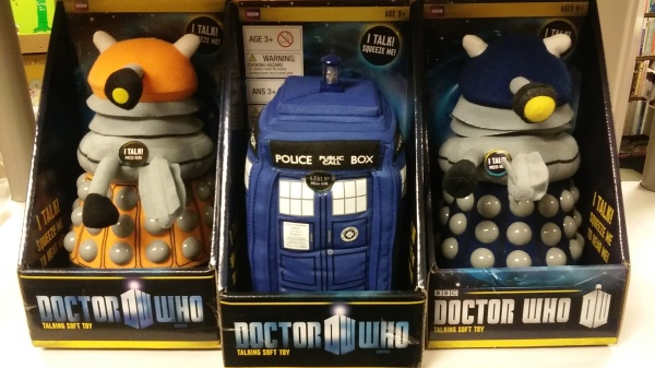 12222015 - Tardis and Dalek plush.jpg