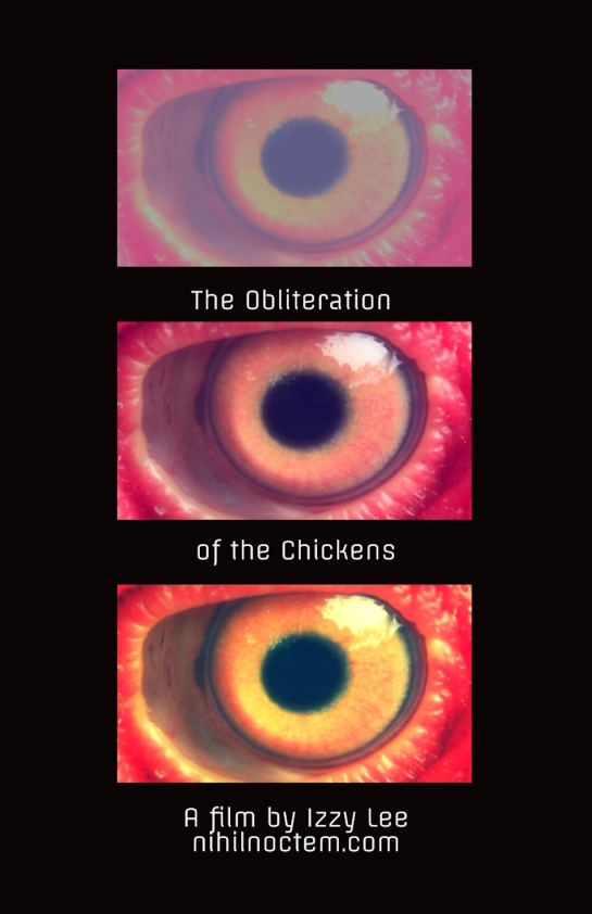 Oblit of chickens poster