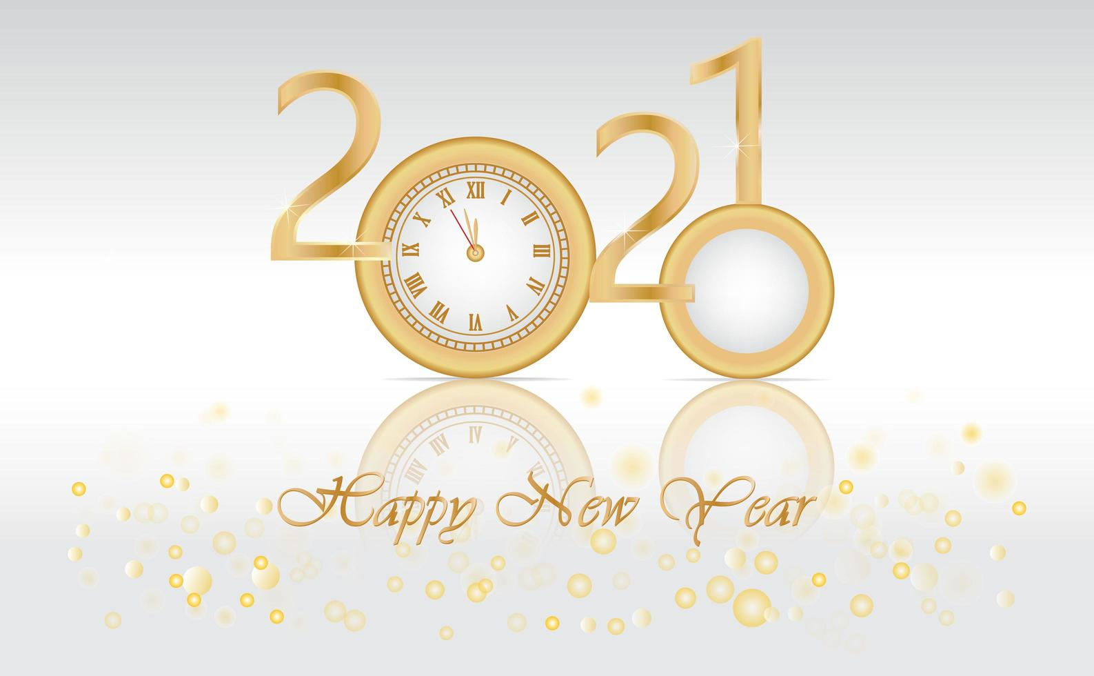 new-year-design-with-2020-turning-into-2021-free-vector